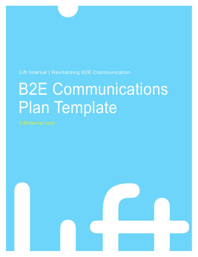 Internal Communications Plan Template - Lift Internal